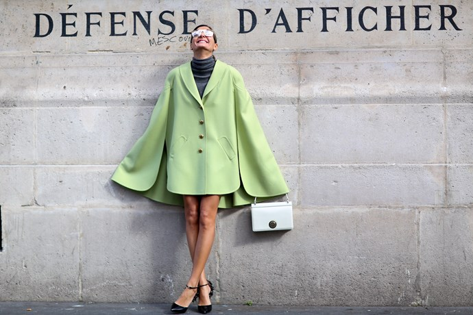 Giovanna Battaglia is fashion and street-style royalty. You can often find her in reflective sunglasses and statement shoes.