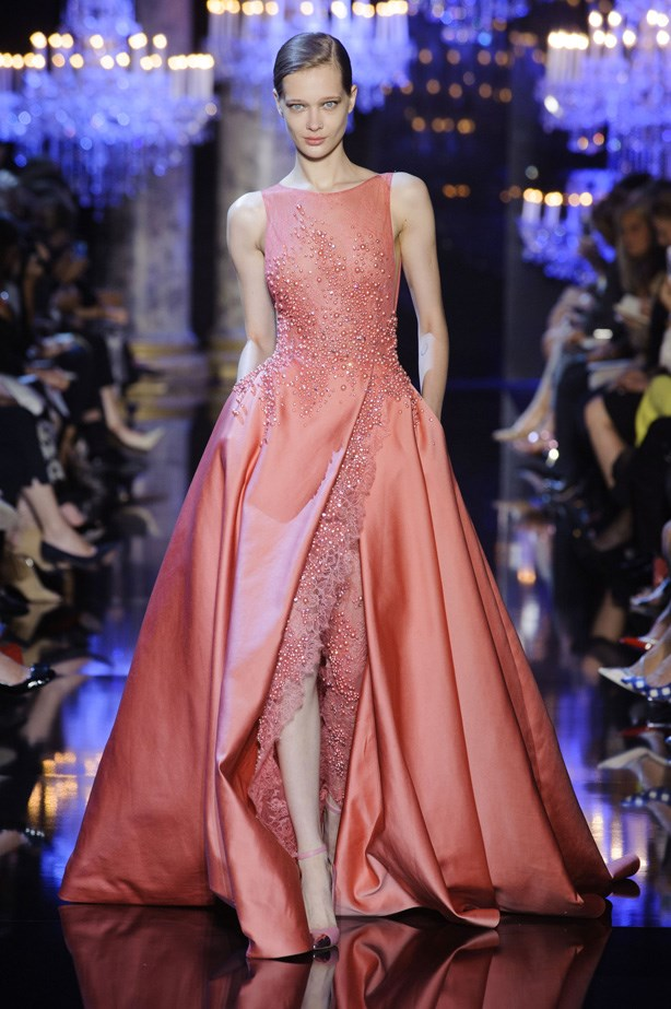 <strong>Ellie Saab Haute Couture AW14-15</strong> <br> <strong>Who should wear it:</strong> Michelle Dockery (Downton Abbey)