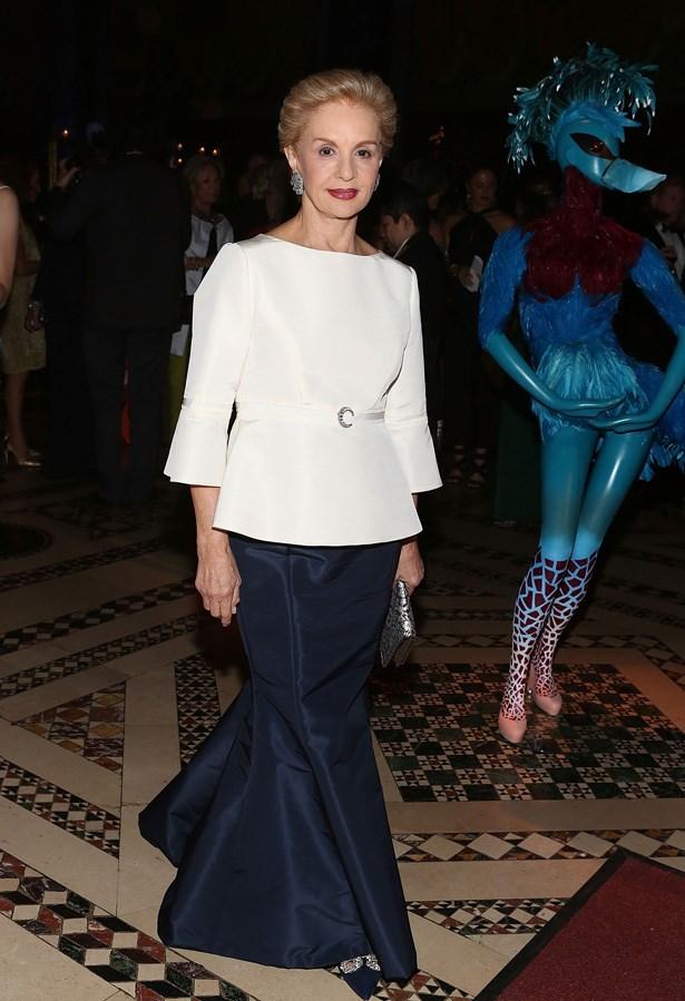 Carolina Herrera, Designer <br> Age: 75