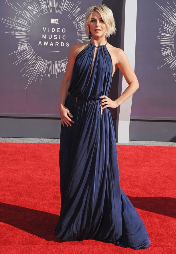 Singer and actress Julianne Hough in Emilio Pucci