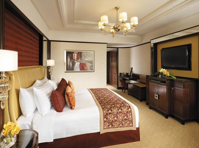 "<strong>Kuala Lumpur<br> Shangri-La Hotel <br></strong> When you're not shopping up a storm at one of KLs many mega-malls, you're probably indulging in local Malaysian cuisine or admiring the iconic Petronas Twin Towers, Kuala Lumpur's super-impressive 452-metre high skyscrapers. After a long day shopping there's nothing quite like admiring the towers from the comfort of your bed – they glitter beautifully until lights-out at midnight. The Shangri La hotel is centrally located to shopping and restaurants and (major points added) within walking distance of the vertiginous Heli Lounge Bar – a secret drinking destination that was formerly a helicopter pad, on a city rooftop. It's a must-see. <br> <strong><a href=""http://www.shangri-la.com/kualalumpur   ""><a href=""null"">www.shangri-la.com/kualalumpur</a>   </a></strong>"