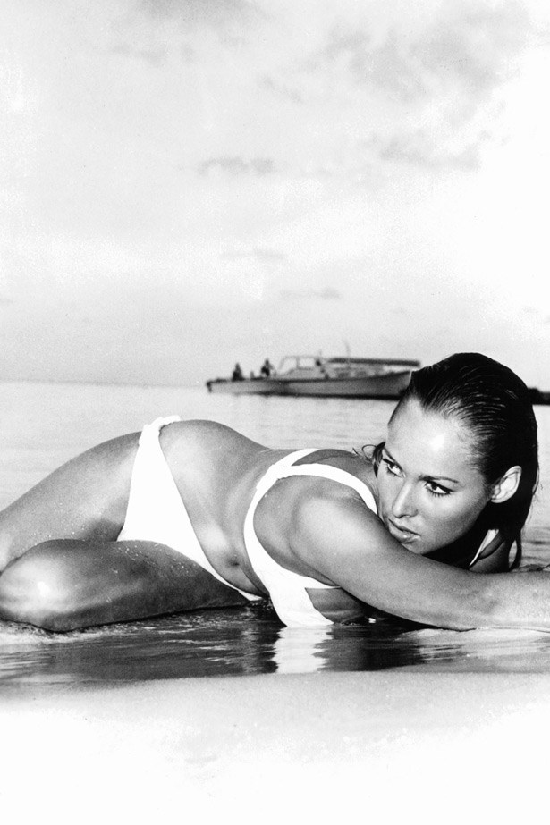 One of the most famous Bond girls, Ursula Andress in <em>Dr No</em> (1966)