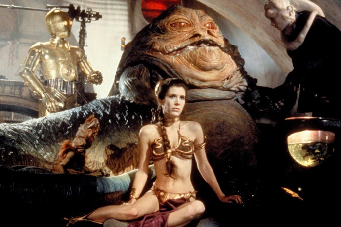 Carrie Fischer's galactic slave two-piece as Princess Leia in Star Wars: Return of the Jedi (1983)