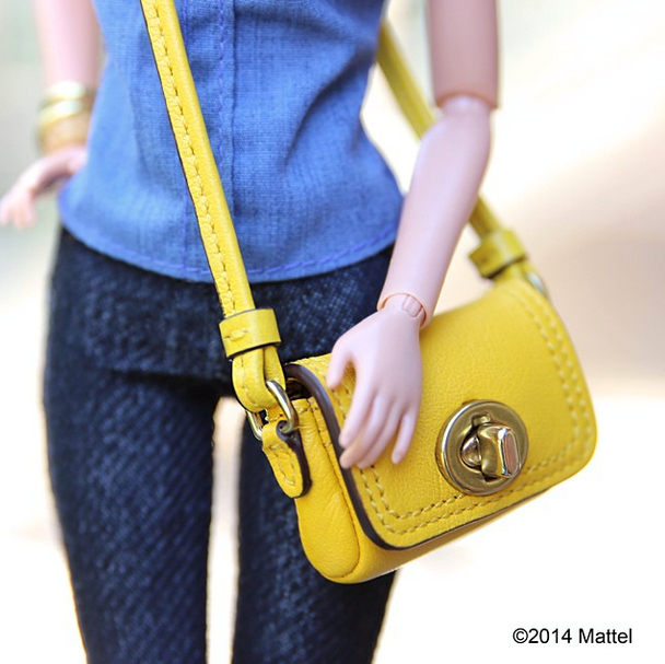"""""""What is sunnier, today's California rays or my Coach Classic Penny? Love this bag, every girl needs a great cross-body."""" <BR> Style advice from Barbie? We'll take it. <br><br> Instagram: @barbiestyle"""