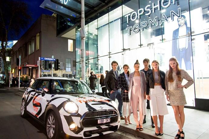 Models at Topshop Sydney Store