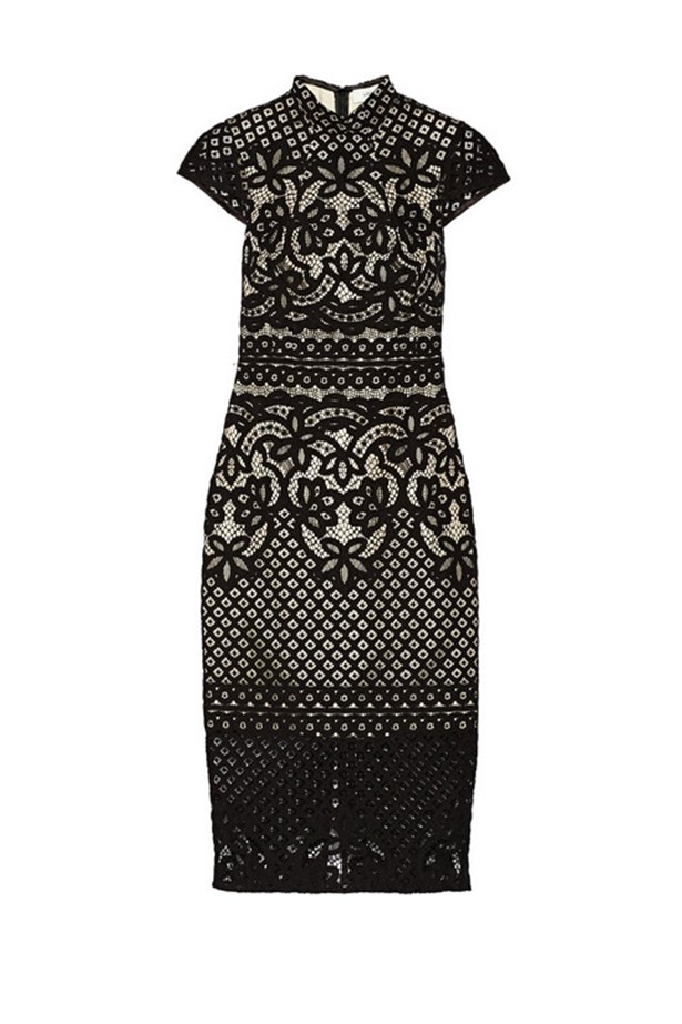 "Black lace dress, $895, Lover,<br> <a href=""http://www.net-a-porter.com/product/474145/Lover/libra-lace-dress"">net-a-porter.com</a>"