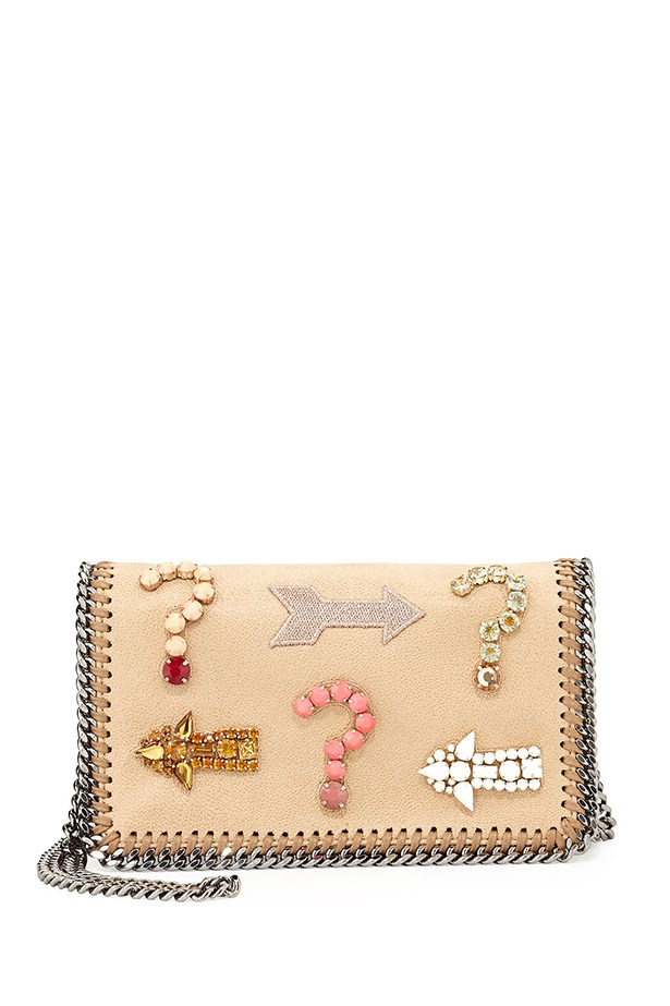 "Crossbody bag, $1419, Stella McCartney, <a href=""http://www.neimanmarcus.com/en-au/Stella-McCartney-Falabella-Embroidered-Crystal-Crossbody-Bag/prod168900534_cat46860739__/p.prod?icid=&searchType=EndecaDrivenCat&rte=%252Fcategory.service%253FitemId%253Dcat46860739%2526pageSize%253D30%2526No%253D270%2526Ns%253DPCS_SORT%2526refinements%253D&eItemId=prod168900534&cmCat=product"">neimanmarcus.com</a>"
