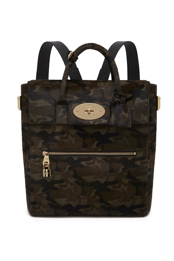 Mulberry Large Cara Delevingne Bag in Khaki Camouflage Haircalf $5,300, 03 9600 4888