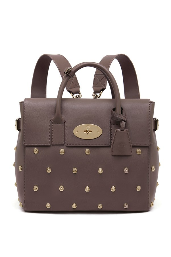 Mulberry Mini Cara Delevingne Bag with Lion Rivets in Taupe Classic Calf $2,700, 03 9600 4888