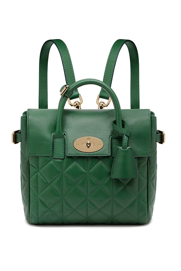 Mulberry Mini Cara Delevingne Bag in Green Quilted Nappa $1,900, 03 9600 4888