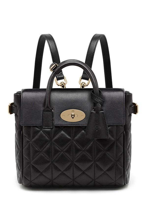 Mulberry Mini Cara Delevingne Bag in Black Quilted Nappa $1,900, 03 9600 4888