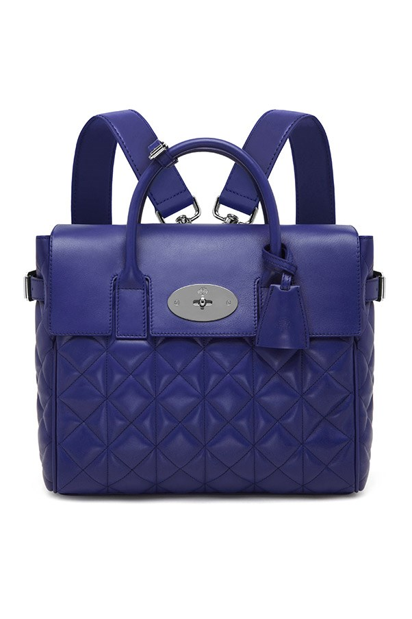 Mulberry Cara Delevingne Bag in Indigo Quilted Nappa $2,300, 03 9600 4888