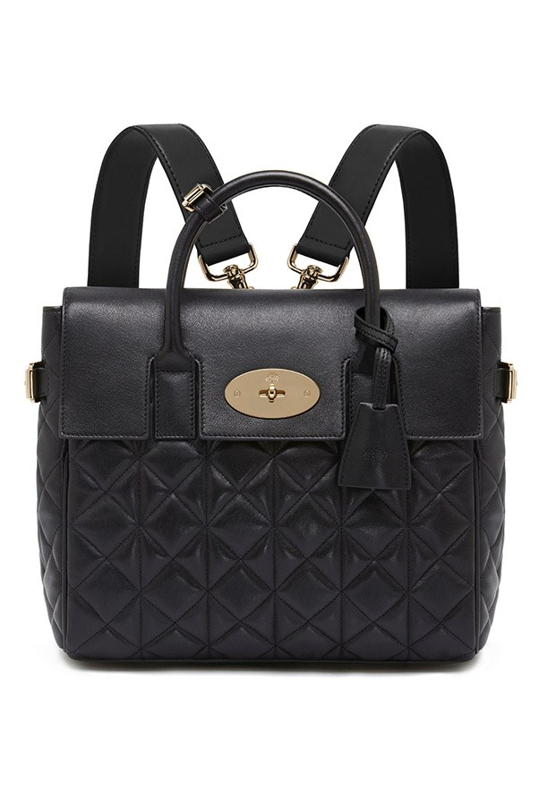 Mulberry Cara Delevingne Bag in Black Quilted Nappa $2,300, 03 9600 4888