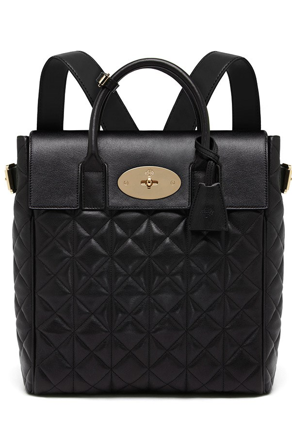 Mulberry Large Cara Delevingne Bag in Black Quilted Nappa $2,900, 03 9600 4888