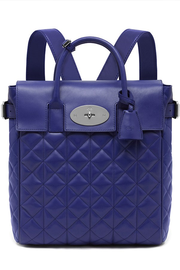 Mulberry Large Cara Delevingne Bag in Indigo Quilted Nappa $2,900, 03 9600 4888