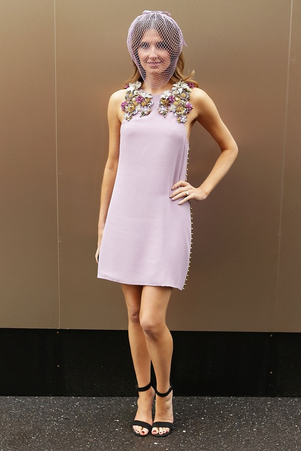 Lilac perfection: Kate Waterhouse at the Melbourne Cup