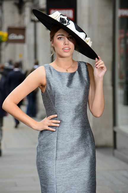 Amber Le Bon in metallics for Royal Ascot