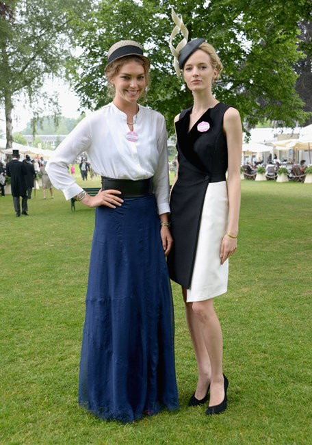 Models Arizona Muse and Daria Strokous at Royal Ascot racecourse