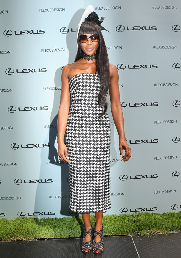 Supermodel Naomi Campbell at Victoria Derby Day