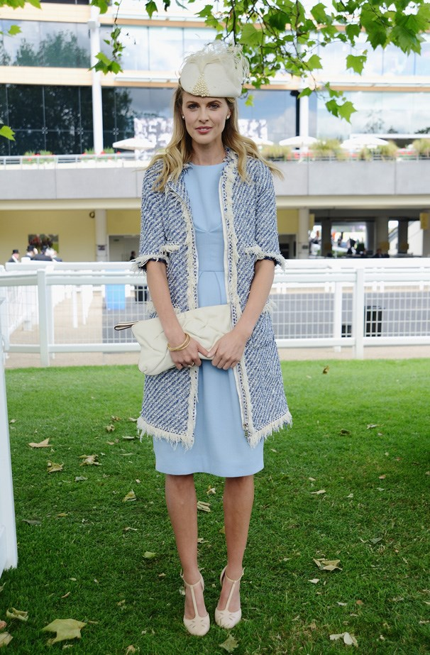 UK Actress Donna Air does baby blue elegance at Royal Ascot