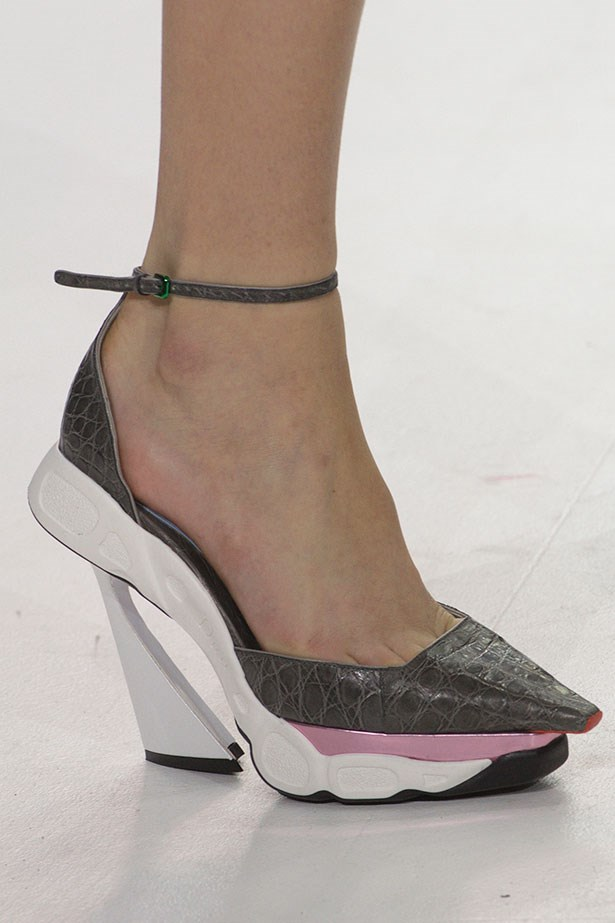 <strong>The statement sneaker shoe</strong><br><BR> … or Dior's sneaker-pump-hybrids. It's the perfect way to take your look from court to curb.
