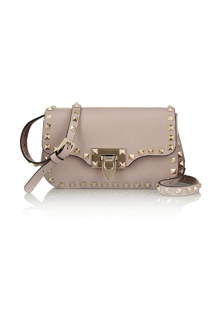 """Bag, 1,619, Valentino, <a href=""""http://http://www.net-a-porter.com/product/457311/Valentino/the-rockstud-leather-shoulder-bag"""">net-a-porter.com</a>"""