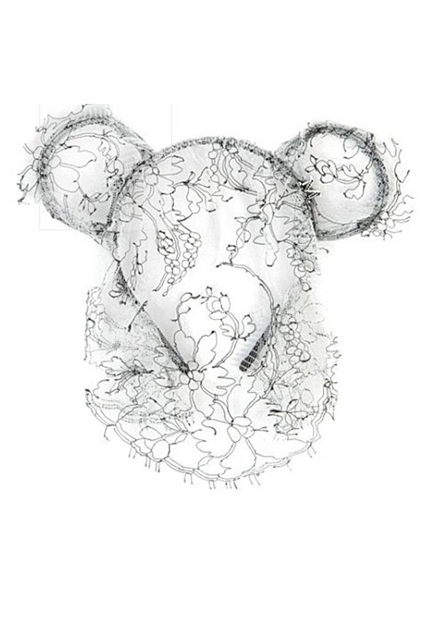 "Headband, $529, Maison Michel, <a href=""http://www.selfridges.com/en/maison-michel-heidi-bear-ears-headband-with-veil_238-3003125-H13725/?previewAttribute=Black%2F+white"">www.selfridges.com</a>"