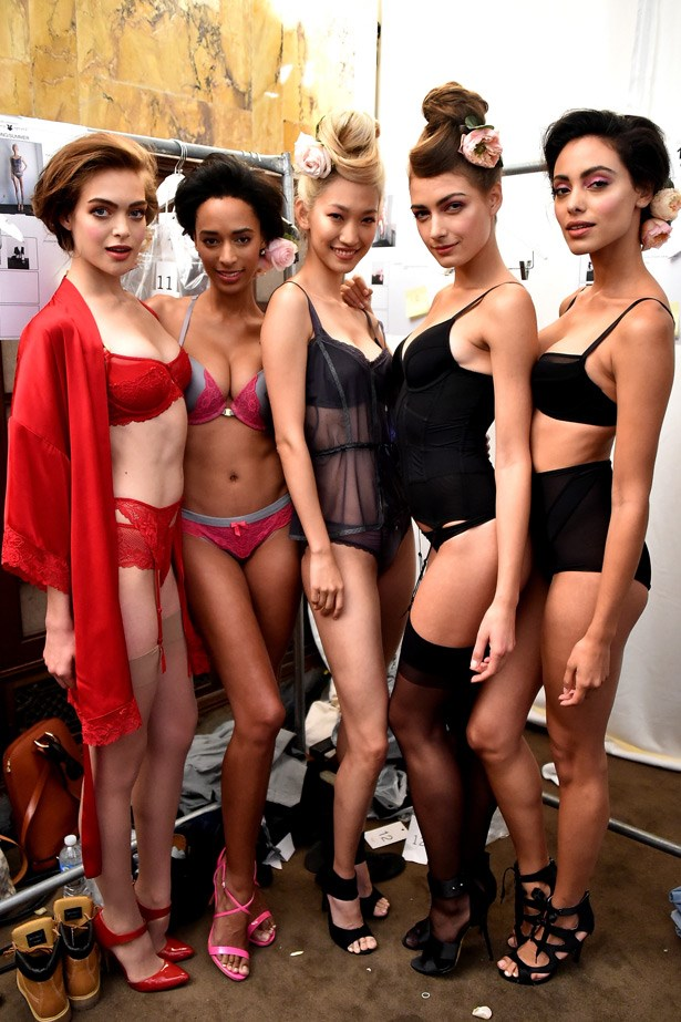 The models show off the flattering looks for all body types