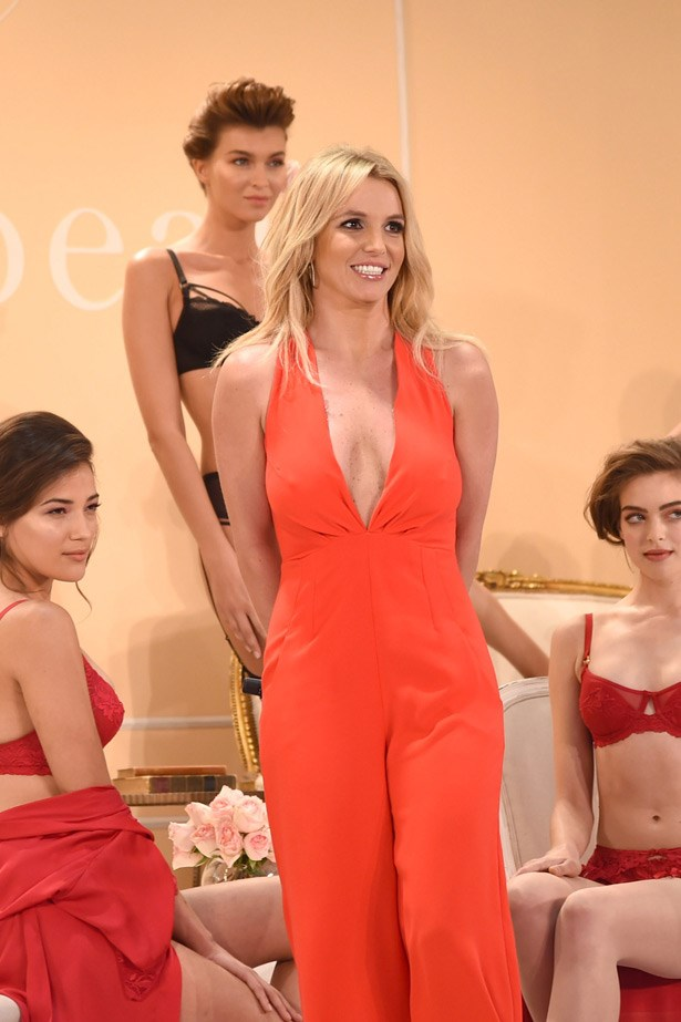 """During the show Britney grabbed the mic and said """"It is so important for women to feel confident, sexy and empowered, especially in those private moments with the one they love. The Intimate Britney Spears [collection] will do exactly that."""""""