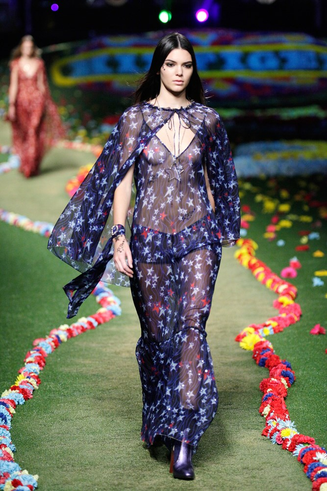 Model Kendall Jenner stars in Tommy Hilfiger's SS15 runway show at New York Fashion Week