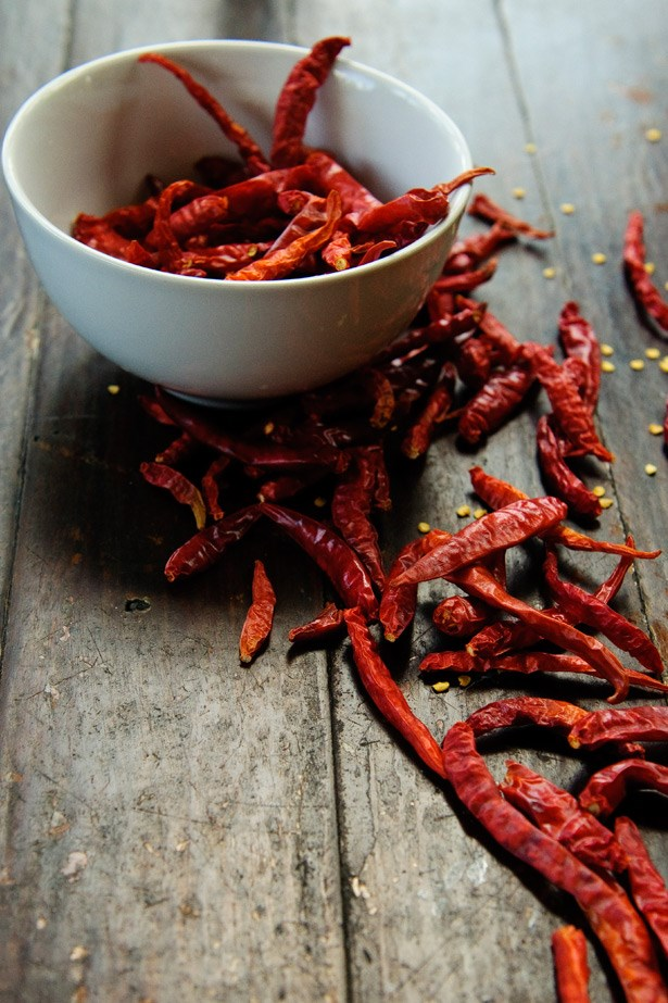 <strong>Chilli Peppers</strong><br><br> The heat from spicy things like chilli, cayenne pepper and capsicum not only burns the tastebuds, but it's also said to kick start the body into thermogenesis, helping to break down fat. Science has suggested that capsaicin, the compound in chillies that gives the little bastards their scorch factor, helps burn calories actually increase your metabolic rate as well as keep you feeling fuller for longer, therefore reducing the urge to snack on something naughty later.