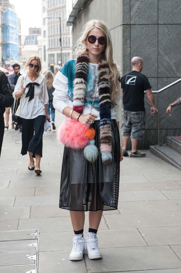 Laser-cutouts, coloured fur and retro-round sunglasses have gone full circle for another season in London.