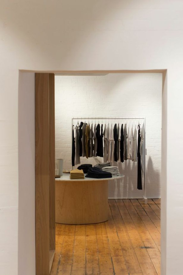 Bassike's new two-story boutique in  Rankins Lane, Melbourne.