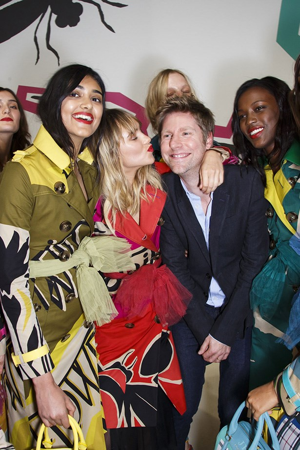 Christopher Bailey with models on the runway