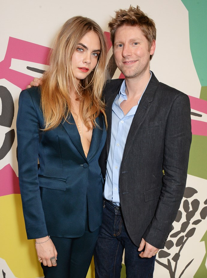 <strong>The man of the moment </strong><br> Chief creative officer Christopher Bailey didn't take himself too seriously and played it cool and a little rough-and-ready in an undone blue collared shirt and jeans.