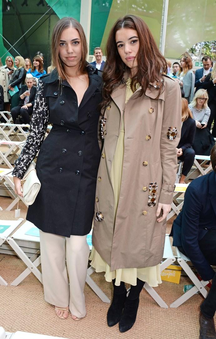 Amber Le Bon and Gala Gordon