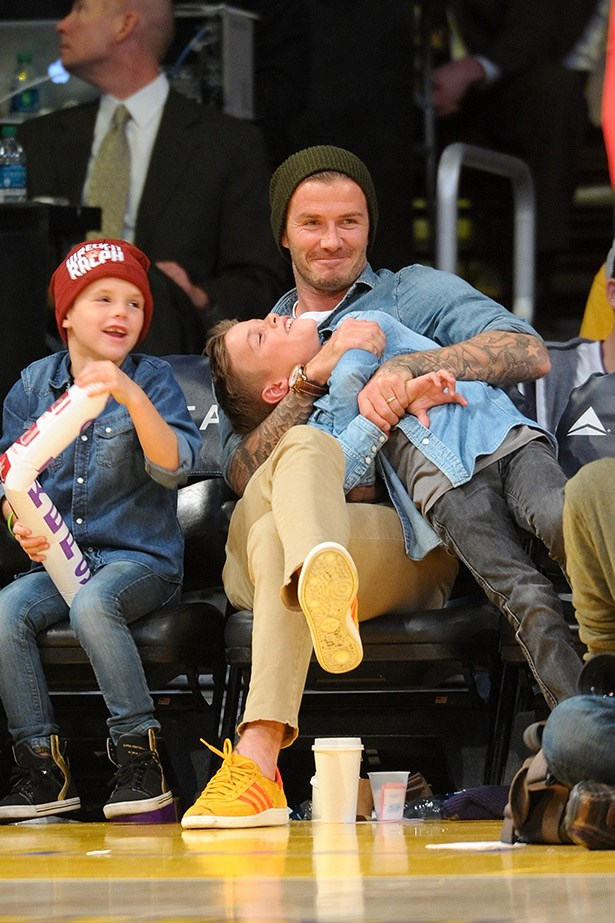 "Ah, David Beckham. The bar at which ""hot dad"" is set."