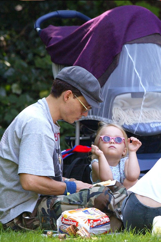 Yes to Johnny Depp playing with daughter, Lily-Rose in a Paris park.