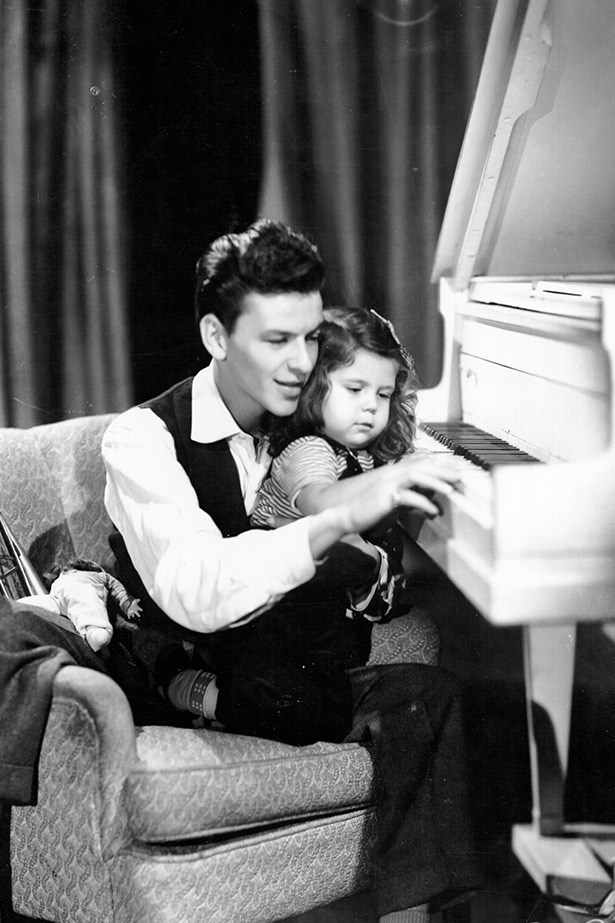 Father of three, Frank Sinatra gave daughter Nancy all the musical guidance she needed.