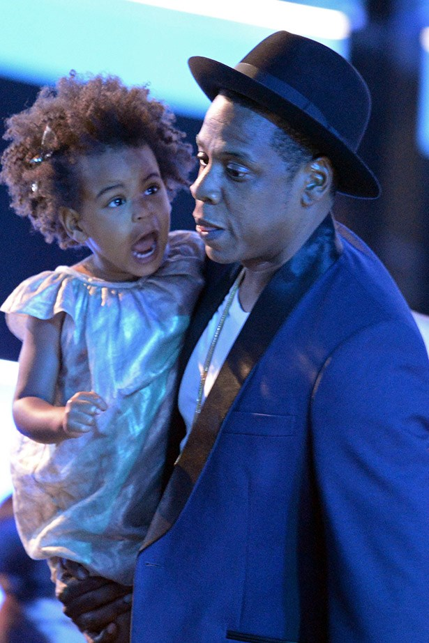 One of rap's most doting fathers: Jay Z, pictured here with baby Blue Ivy
