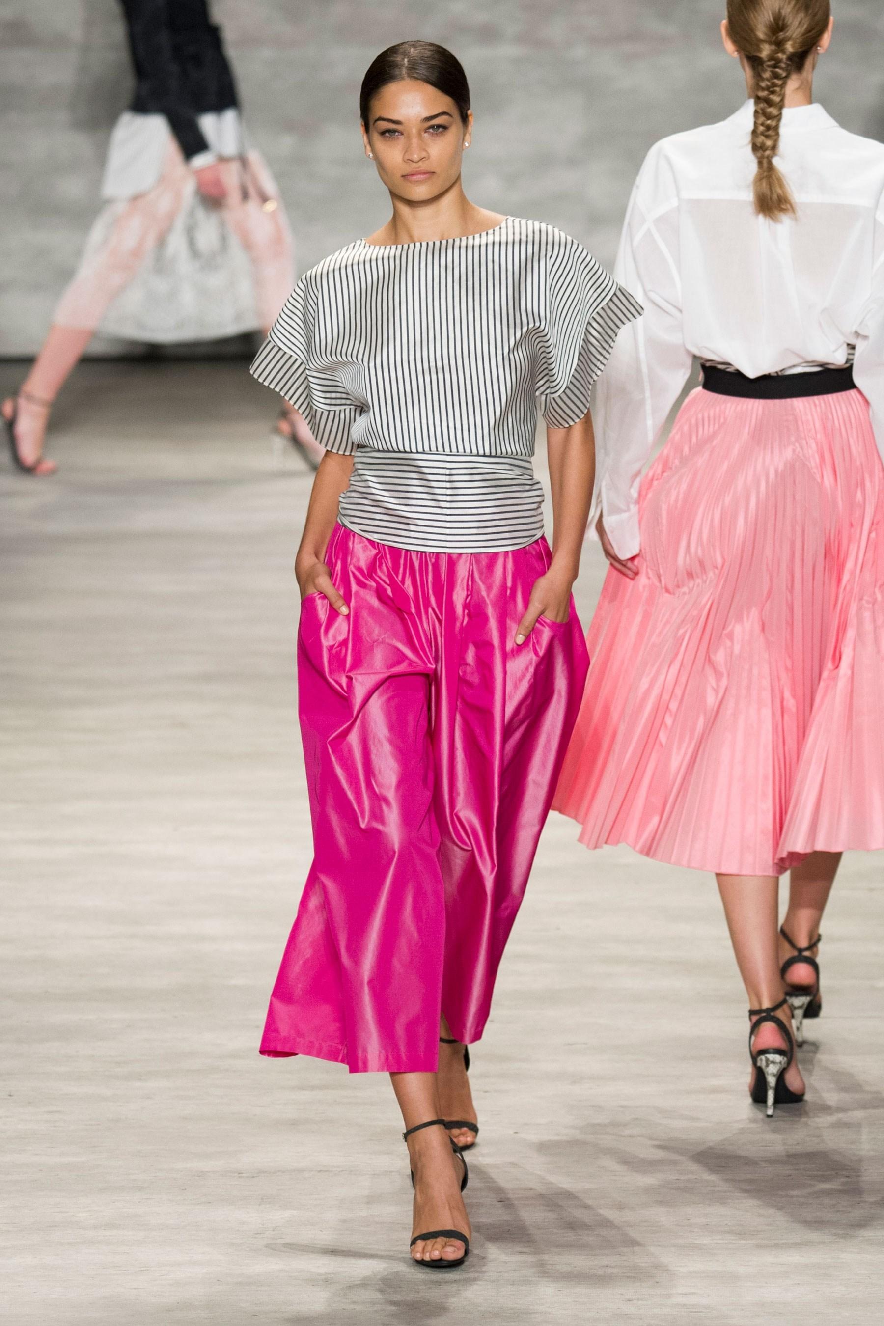 Shanina Shaik in Tome SS15 runway show at New York Fashion Week