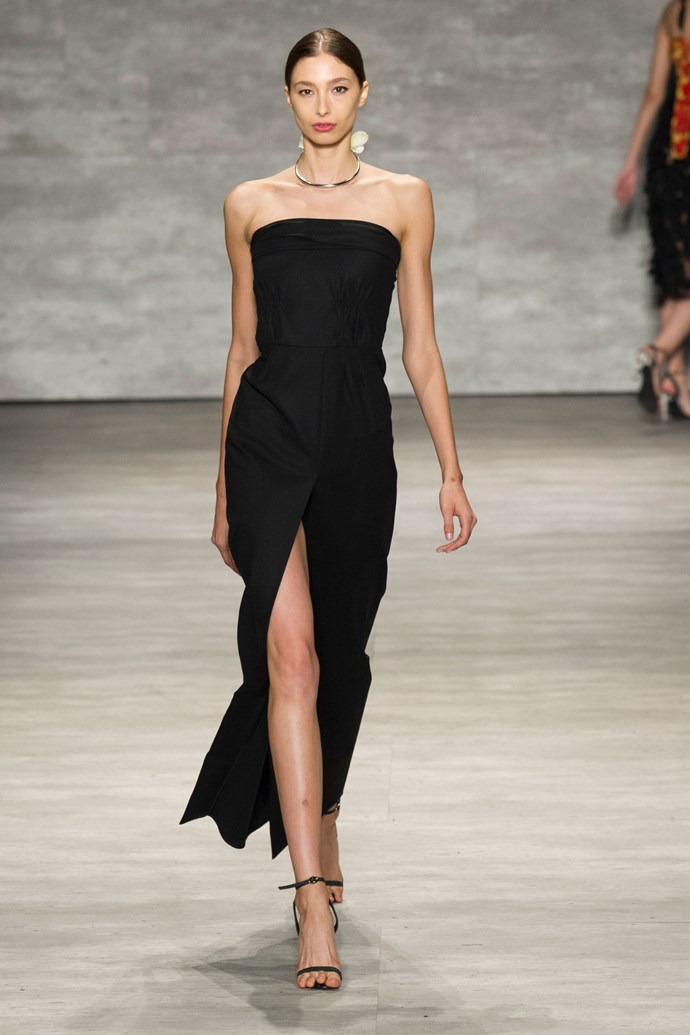 Alexandra Agoston in Tome SS15 runway show at New York Fashion Week
