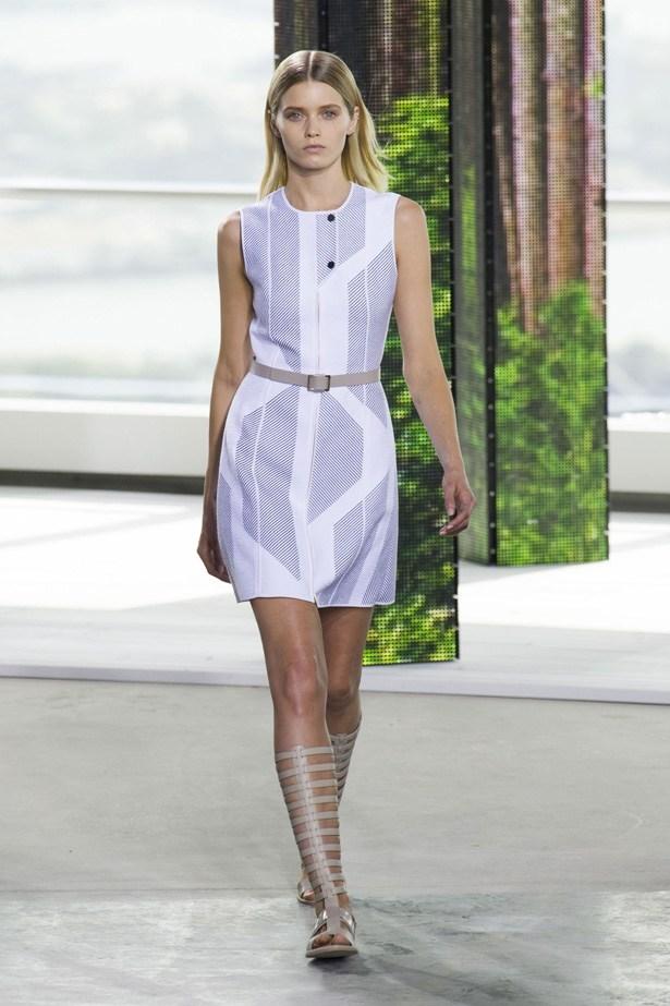 Abbey Lee Kershaw in Hugo Boss SS15 runway show at New York Fashion Week