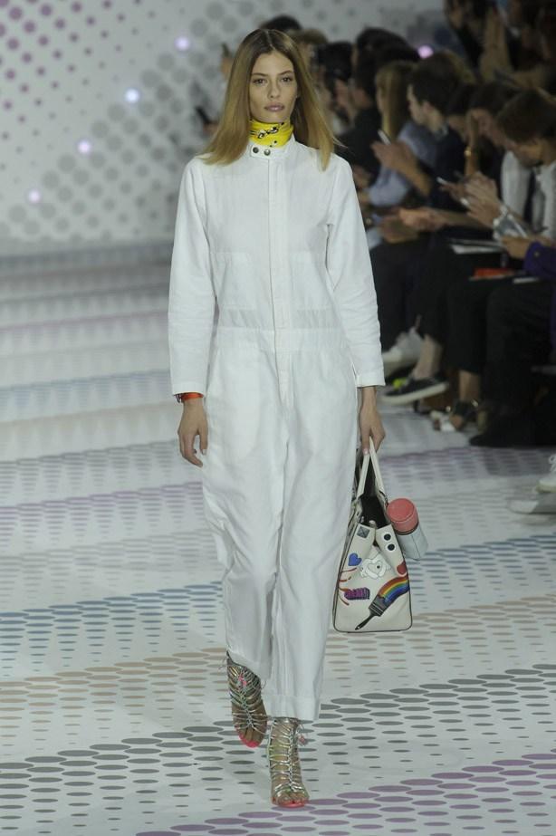 Cassie Van Den Dungen in Anya Hindmarch SS15 runway show at London Fashion Week