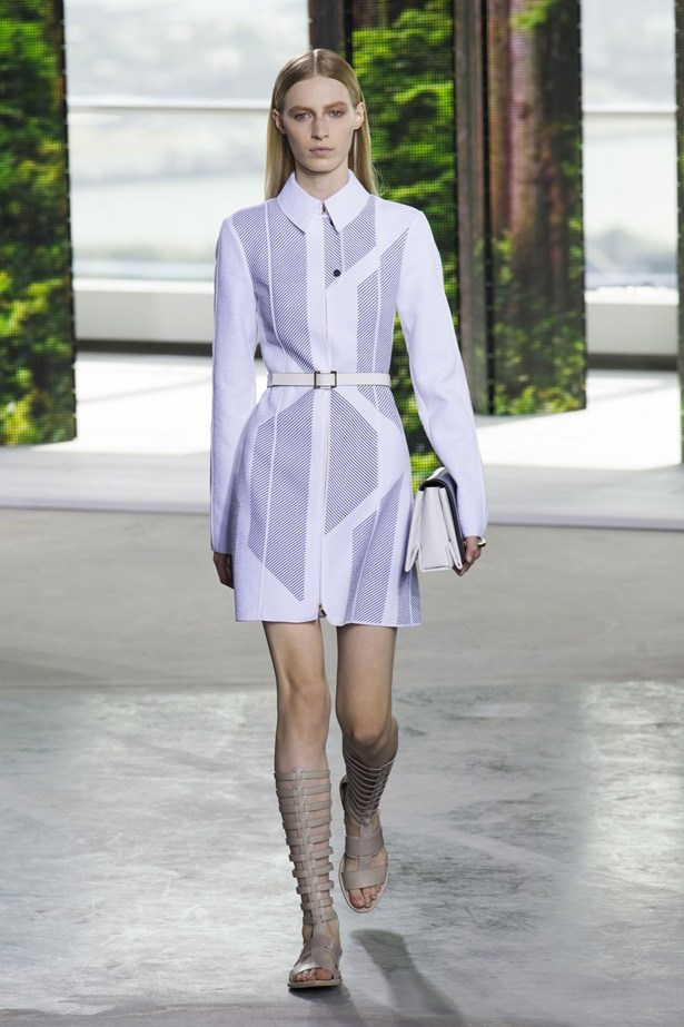 Julia Nobis in Hugo Boss SS15 runway show at New York Fashion Week