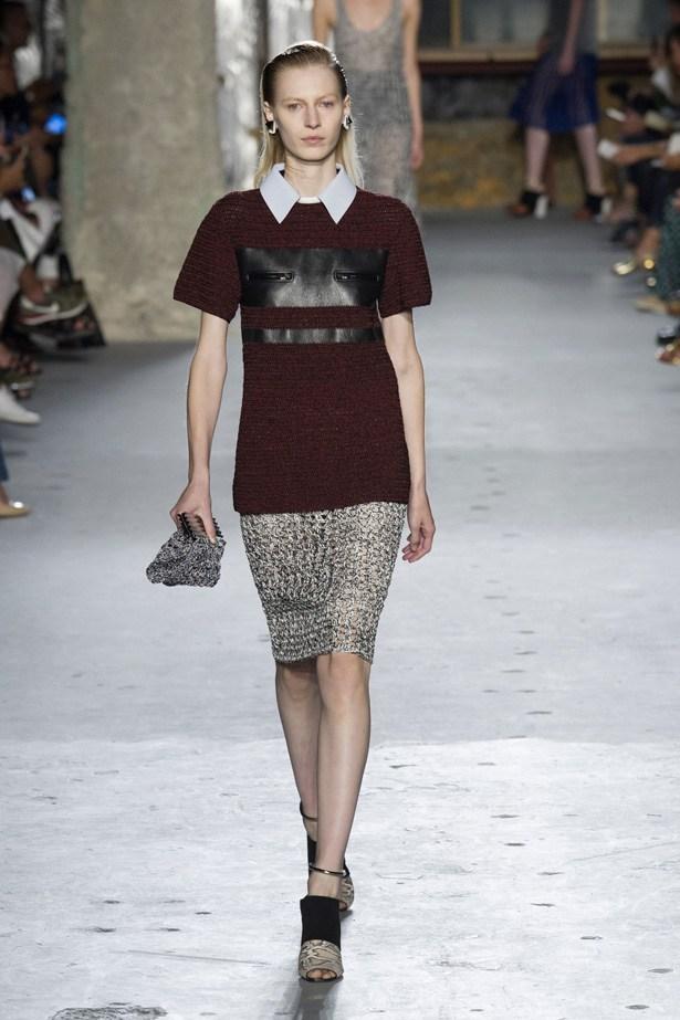 Julia Nobis in Proenza Schouler SS15 runway show at New York Fashion Week