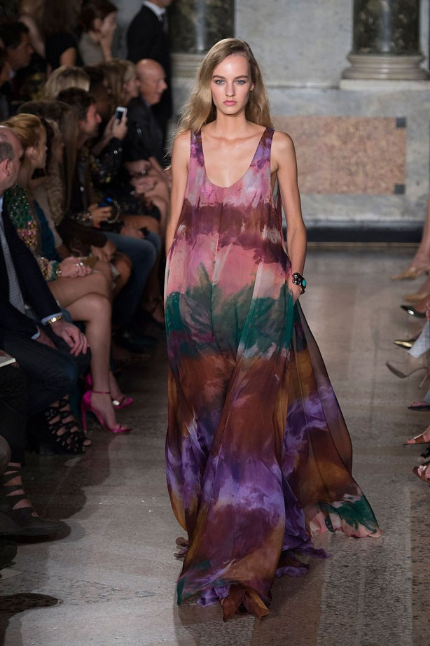 <strong>Designer:</strong> Emilio Pucci <br> <strong>Collection:</strong> Spring Summer 2015 <br> <strong>Location:</strong> Milan Fashion Week