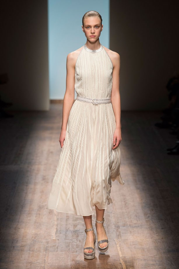 <strong>Designer:</strong> Salvatore Ferragamo <br> <strong>Collection:</strong> Spring Summer 2015 <br> <strong>Location:</strong> Milan Fashion Week