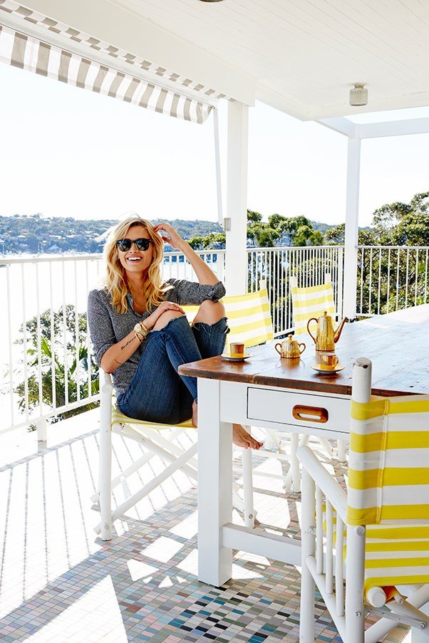 Cheyenne's bright family home overlooks a sparkling bay
