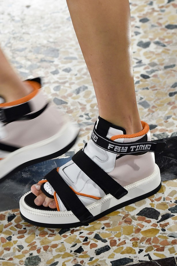 Street style-inspired sneaker/sandal hybrids at Fay